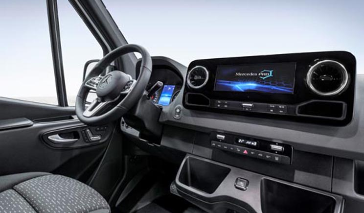Interior de la nueva Mercedes-Benz Sprinter